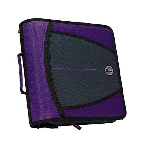 Case-it Mighty Zip Tab 3-Inch Zipper Binder, Purple, D-146-PUR