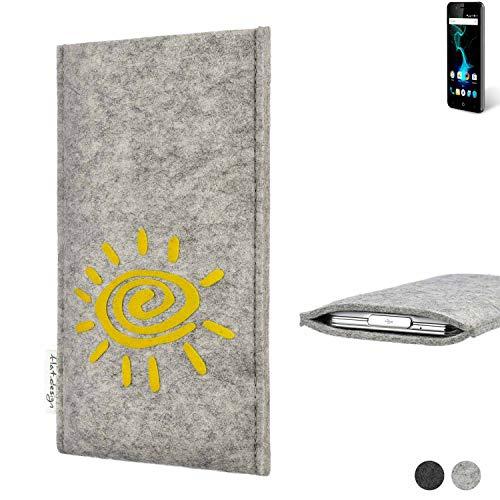 flat.design Handy Hülle für Allview P6 Pro FARO mit Sonne Filz Schutz Tasche Etui Made in Germany fair