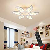Lámpara de techo LED Oninio regulable, 6 cabezas, moderna lámpara de techo acrílica de montaje empotrado en pétalo para cocina, dormitorio, comedor, sala de estar, estudio (60 W / 3000-6500 K)