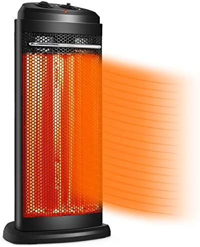 Tangkula Portable Quartz Heater w Automatic Thermostat Electric Radiant Tower Space Heater High product image