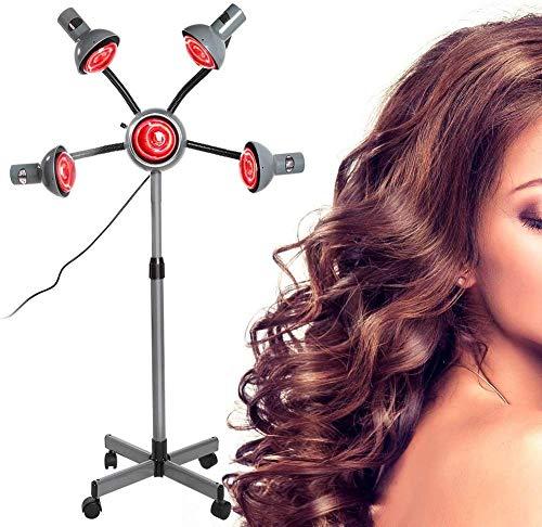 5 kop infrarood warmtelamp kachel met flexibele arm infrarood licht haarkleur processor droger salon kappers tool voor haarstyling permanent