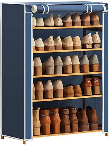 Zapato Rack Cinco pisos Zapato Zapato Almacenamiento Organizador Gabinete Torre con cubierta de tela Oxford Cubierta de tela de almacenamiento Hogar Soporte Estante para pasillo de entrada Corredor Sa