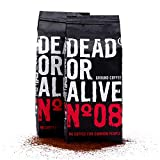 DEAD OR ALIVE Moka N08 - 250g gemahlener Kaffee - starker und säurearmer Mokka Kaffee - feinste...