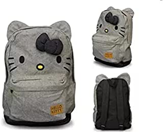 Hello Kitty Canvas Backpack Bag w/ Bow & Ears (Black & White ...