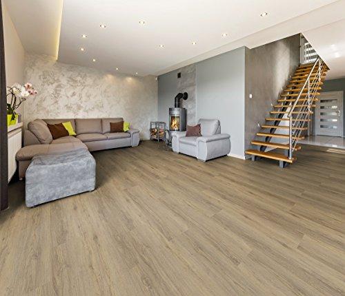 Vinylboden 9,5 mm HDF-Klick 1,88 m² Uniclic in verschiedenen Farben Boden Holzoptik Dielen Designboden PVC (Waldeiche)