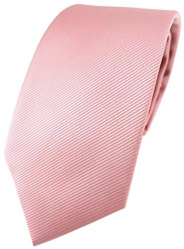 Corbata de diseño TigerTie de un solo color, estructura Rips rosa altrosa