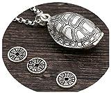 KnSam Schmuck 925 Silber Kette Herren & Damen Halskette mit Anhänger Schildkrötenpanzer als...