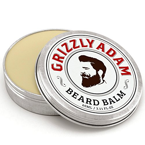 GRIZZLY ADAM Beard Balm for Men - 100% Natural Leave in Conditioner with Natural Oils for Best Beard Growth & Nourishing