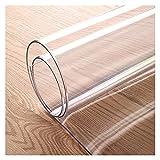 ZWYSL Protector de Mesa PVC Transparente Manteles se Utiliza para Cocina y El Banco Trabajo, Absorción Impactos, Antideslizante Aislamiento a Prueba Humedad (Color : Clear-2mm, Size : 80x100cm)