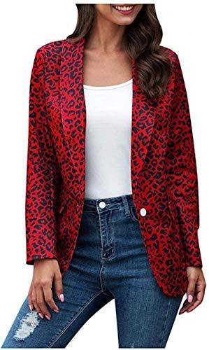 Handsome Women's Cardigan Casual Leopard Print Business Long Sleeve Lightweight...