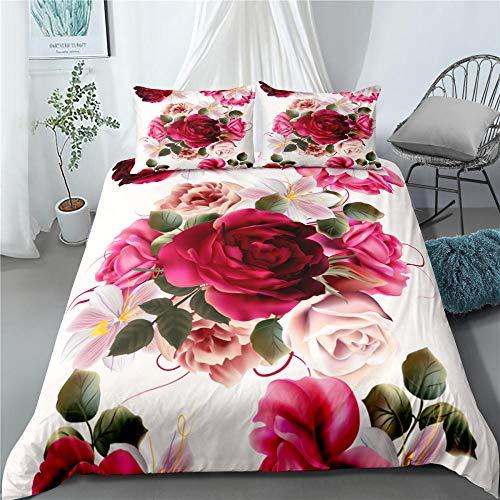 Bedclothes-Blanket Funda nórdica Funda de Colcha,Rosa 3d-12_260x220cm