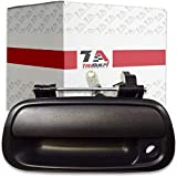 T1A Tailgate Latch Handle with Keyhole Replacement for 2000-2006 Toyota Tundra Pickup, Textured Black Liftgate Handle, T1A-69090-0C010