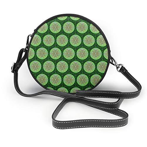 Ameok-Design Bolso de mano de piel sintética multifuncional, con diseño de bolas...