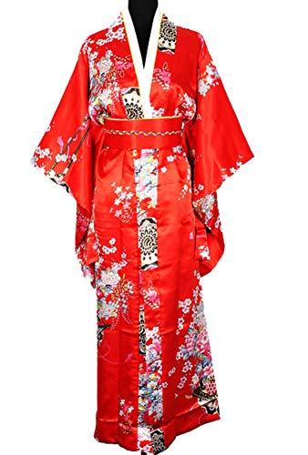Japanisch Kimono Robe Yukata Schlafanzug Rot Neu