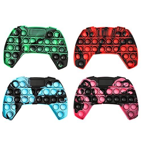 gitete Big Pop It Game,Pop Push Game Controller Gamepad Shape Pop Push tie dye Bubble Sensory Fidget Toy Autism Special Needs Stress Reliever for Kids & Adults(4 Colors)