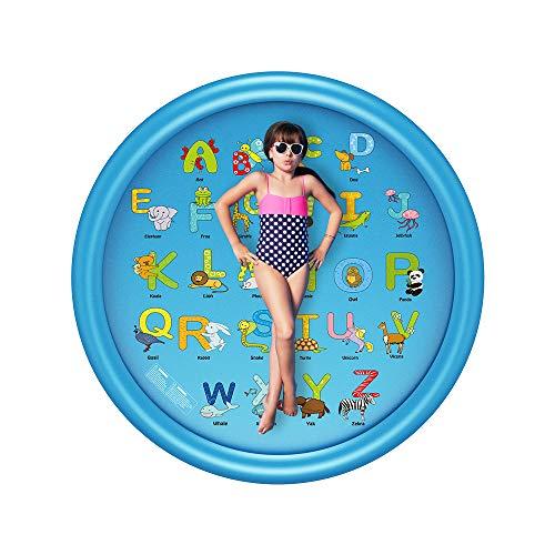 B-1 Wasserspielmatte Kinder, 170Cm Water Splash Pad Pool, Sommer Outdoor Games Garten Spray Spielzeug Für Kinder Kleinkinder (Non-Schlauchboot),B