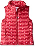 Amazon Essentials  Girl's Lightweight Water-Resistant Packable Puffer Vest, Pink Dot, Large