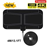 TV Aerial, Indoor HD Digital TV Antenna 50 Miles Support 4K 1080P HD/VHF/UHF