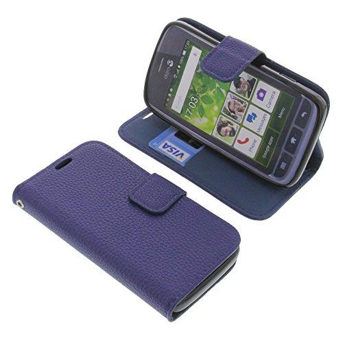 foto-kontor Tasche für Doro Liberto 820 Mini Book Style dunkelblau Schutz Hülle Buch