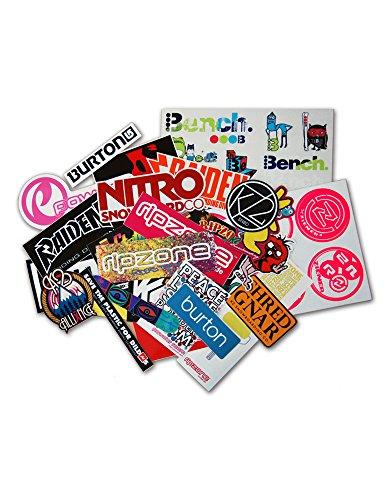 RIESIGES Marken Sticker Set CA. 55 Aufkleber Nitro Burton Bench Raiden K2 Ride