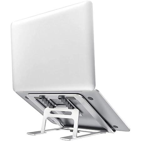 """Viixm Supporto PC Portatile 5 Angolazioni Regolabili Portatile Porta Notebook Pieghevole in Alluminio Ventilato Porta PC Supporto per MacBook, Huawei Matebook, dell, HP, Lenovo And 10-15.6"""" Laptops"""