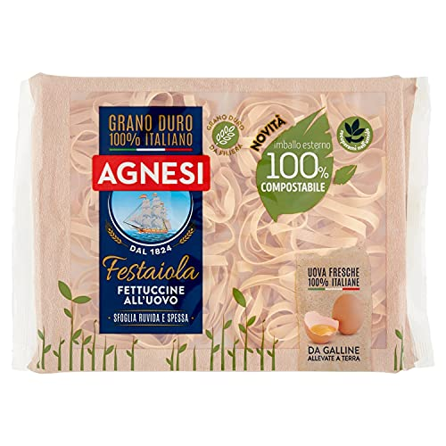 Agnesi Fettuccine all'uovo, Pasta all'uovo Festaiola - 250 grammi