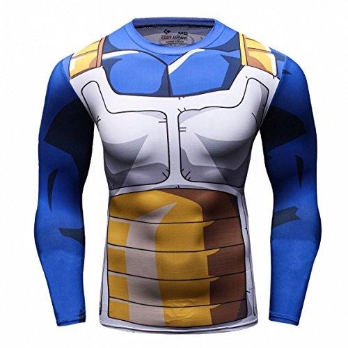 Cody Lundin Tops Fitness Apretado superhéroe Impresa Logo Deporte Hombre Mix Color Hombres Largo Manga Camiseta (XL)
