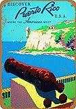 WallAdorn 8 x 12 Puerto Rico Travel Eisen Poster Malerei
