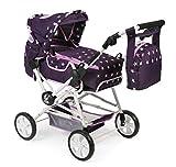 Bayer Chic 2000 562 71 Super Kombi-Puppenwagen Roadstar für große Kinder, Stars lila