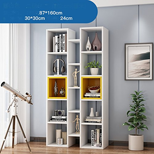 WJXBoos Librerie,Pavimento minimaliste Moderni scaffali galleggianti Finestra Combinazioni Creative di cremagliere Piccole librerie della Grata armadi-A 87x24x160cm(34x9x63)