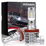 SUPAREE H8 H11 H16 led ヘッドライト 新車検対応 12V/24V車対応(ハイブリッド車・EV車対応) ホワイト 6500K ファンレス 爆光 フォグランプ 2個入 3年保証