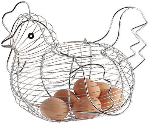 PaperCilp Egg Storage Basket panier oeuf poule Kitchen Craft Storage Basket Boîte à Oeufs Poulet Metal Fil d'oeuf Panier Storage Basket
