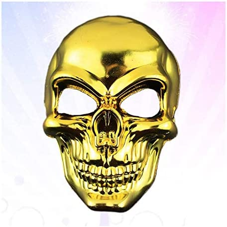 Halloween Mask Scary Skeleton Plated Full Face Ghost Death Halloween Masks Protector for Costume product image