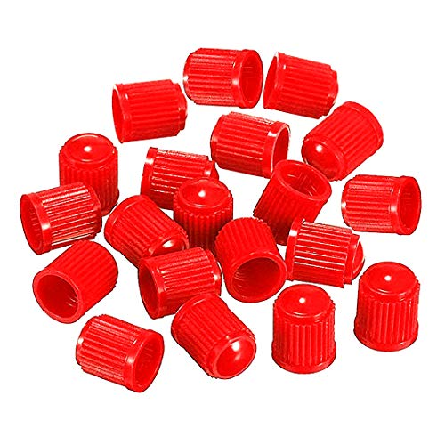 Beito Colorati in plastica valvola della Gomma Antipolvere Tappi per Auto, Moto, Camion, Bici e Biciclette (50pcs) Rosso
