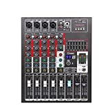 tbaobei-baby controller dj intelligente 4 canali mixer digitale usb reverb wedding conferenza stage performance effects supporto usb/mixer interfaccia usb scheda sd (color : c1, size : onesize)