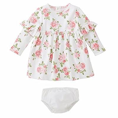 Mud Pie Baby Girl Floral Dress with Bloomer Children Apparel (3-6 Months)
