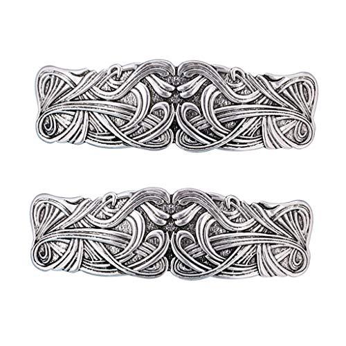 #N/A/a 2pcs Estilo Vintage Gran Pinza de Pelo Celta Vikingo Pasador Decoración...