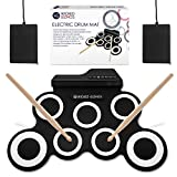 WICKED GIZMOS Electronic Drum Mat – Portable Roll Up Digital Music Pad Instrument