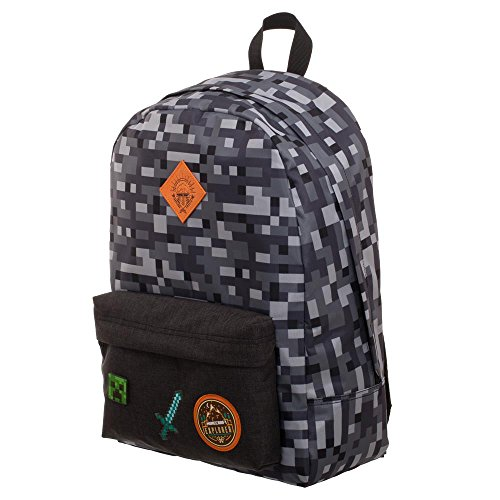 Minecraft Kinderrucksack Grau Mehrfarbig, Backpack, offiziell lizenzierter Rucksack