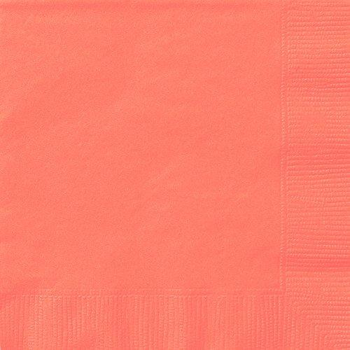 Unique 99232 Peach Paper Napkins, 20ct