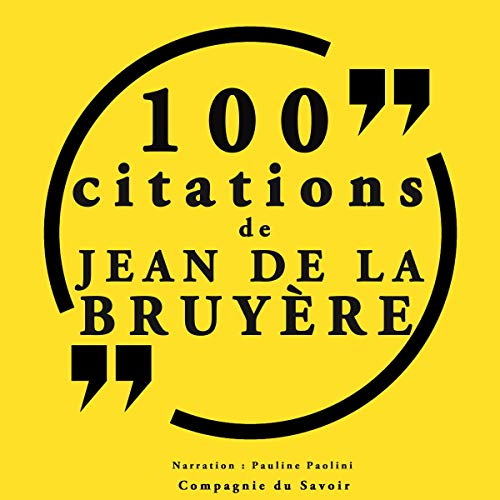 Couverture de 100 citations Jean de la Bruyère