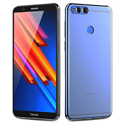 Custodia Honor 7X, Angozo Protettiva morbido Cover TPU Custodia in silicone Trasparente per Huawei Honor 7X