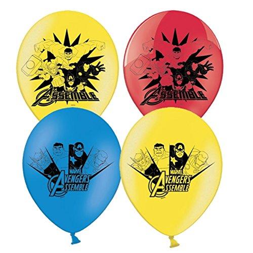 6 Ballons en latex 30cm - Avengers