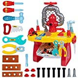 UNIH Kids Tool Bench for Boys Age 2-4 Toddlers Tool Set Workbench Preschool for Child