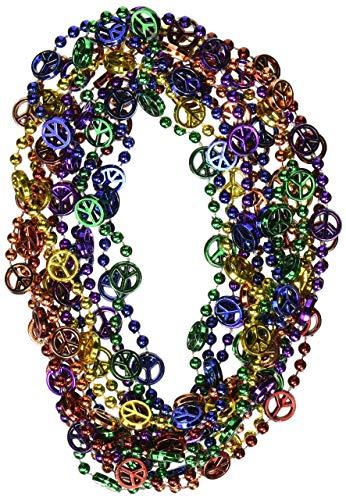 Beistle Symbole de Paix Perles (Asstd B/G/GD/O/PL/R) (6/Carte)