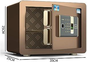 LLRYN Safes for Home Cash Jewelry Safety Cabinet Smart Alarm System Office File Security Box, Fingerprint + Password Unloc...