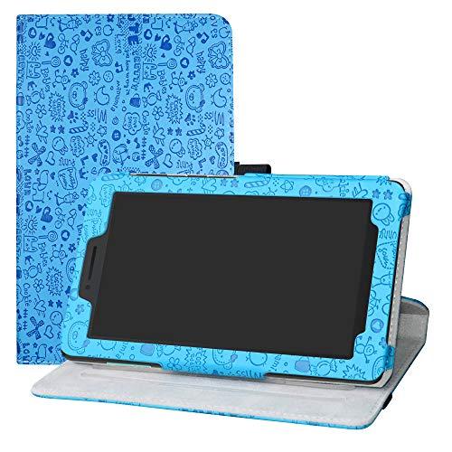 LFDZ Lenovo Tab E7 HD Drehbarer Hülle 360° Drehbarer Stand Cover Premium Schutzhülle Tasche Etui mit Ständerfunktion Hülle für 7.0