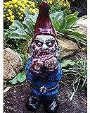 Bedspread Harz Zombie GNOME Ormament Horror Film Statue Horror Gartenzwerge Spooky Untote Halloween Skulptur für Gartenzwerge Undead Halloween Statue für Outdoor Patio Yard Lawn