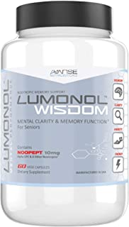 Lumonol Wisdom (60ct): A Breakthrough Nootropic Brain Supplement for Senior Citizens Designed to prolong Clarity, Vitality, and Reduce Memory Loss for The Elderly.