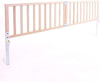 WHAIYAO-Barandillas para camas Madera Maciza Puede Ser Ensamblado Altura Ajustable Plegable Barandilla De Los Niños, 2 Tallas (Color : Brown, Size : 150X41cm)